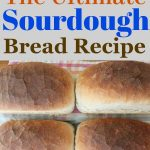 "a photo collage of sourdough bread loaves with the words ""the ultimate sourdough bread recipe"""