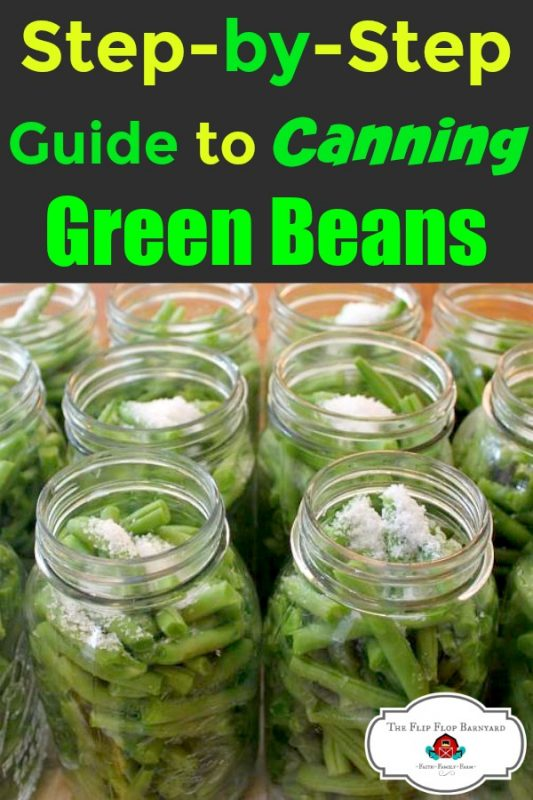 Green beans in mason jars